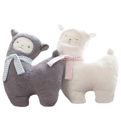 43*33cm Soft Stuffed Plush Baby Toy Lovely Alpaca with Scarf