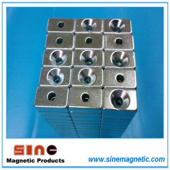 Heteromorphy- Rectangle /Block Magnet with Hole (N35SH/ N45SH / N48H)