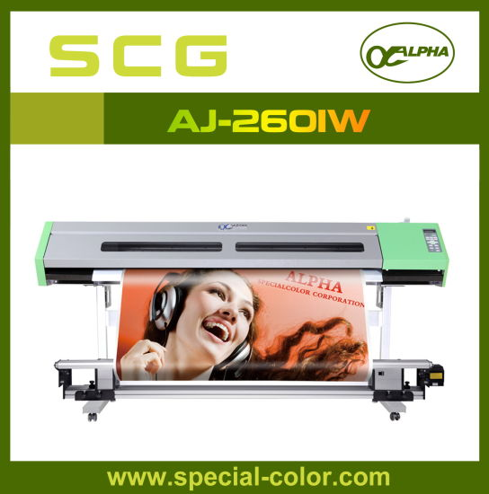 New Double Head Roll to Roll Solvent Printer Aj-2601 (S) pictures & photos