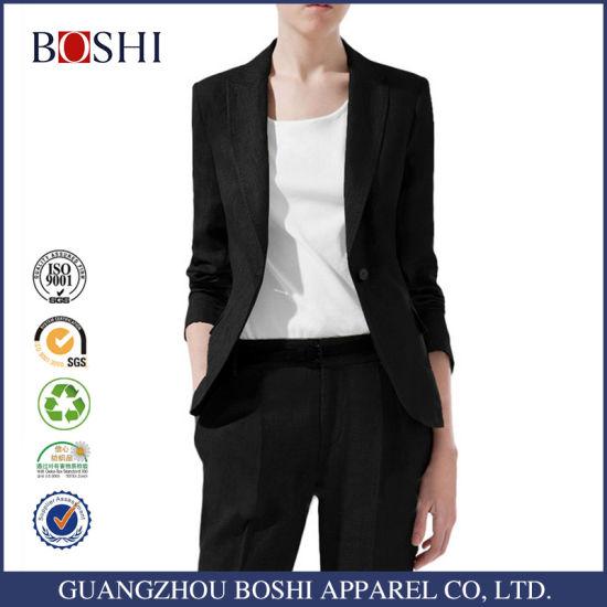 4e285418e Latest Design Women Office Lady Suits with Pants Work Uniform Suits  pictures & photos