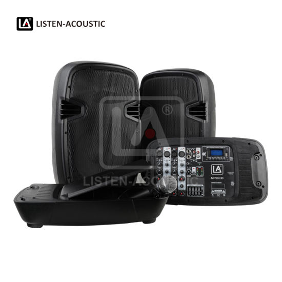 Mpen-10 Dual 10 Inch All-in-One Portable PA System Portable Bluetooth Speaker