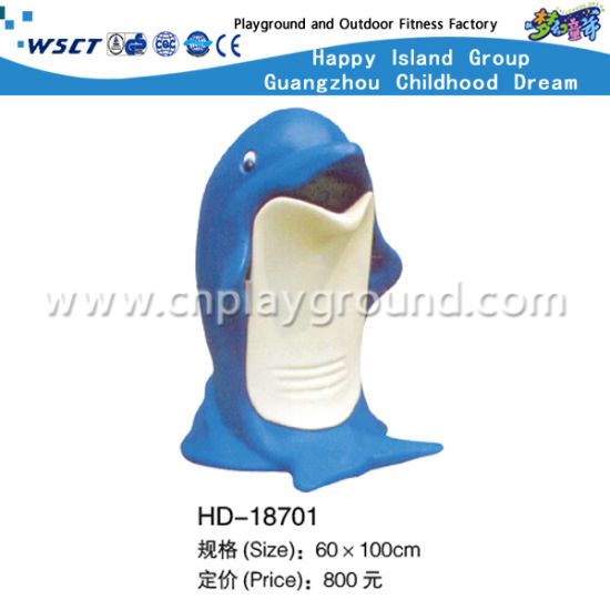 Outdoor Animal Dolphin Trash Can for Park Garbage Bin (HD-18701) pictures & photos