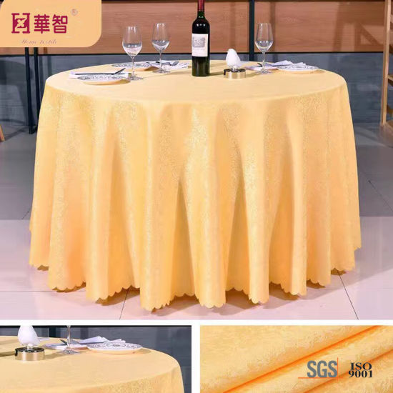 "Purple Color Jacquard 132"" Table Cover pictures & photos"