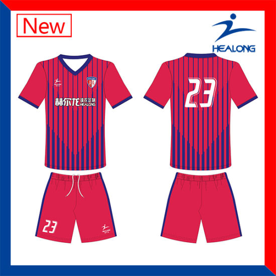 Healong Sportswear Unique Sublimated Soccer Jersey for Teamwear Shirt pictures & photos