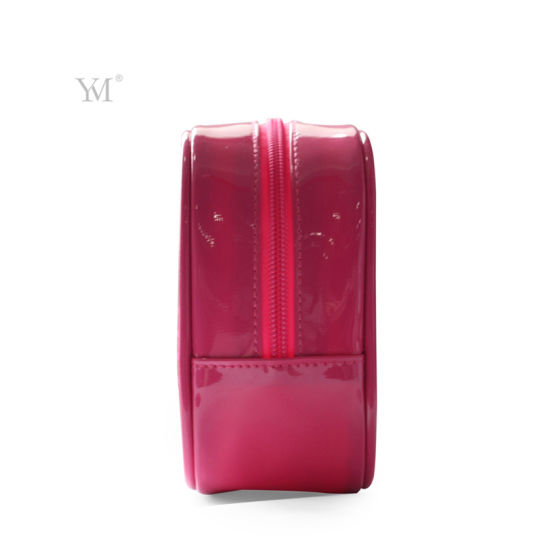 Promotional Good Quality Fashion Mesh Pink Cosmetic Bag pictures & photos