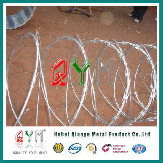 High Tensile Strength Wire Cross Razor Wire/ Concertina Barbed Wire