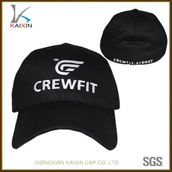 fbcf00bf1245a China Custom Flexfit Cap Embroidery Elastic Flex Fitted Baseball Hat ...