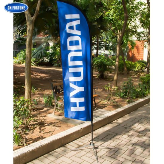 Wholesale Supplier Custom Polyester Outdoor Beach Feather Teardrop Promotional Flags for Flex Printing Advertising
