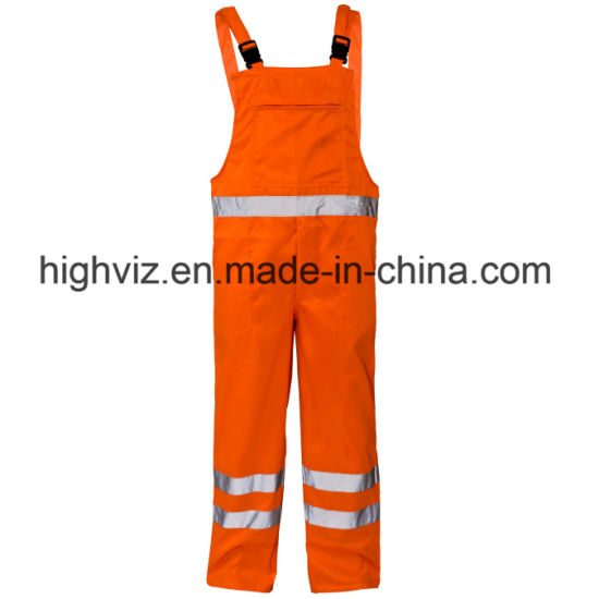 China Wholesale Hi Vis Overalls Safety T/C Trousers Workwear
