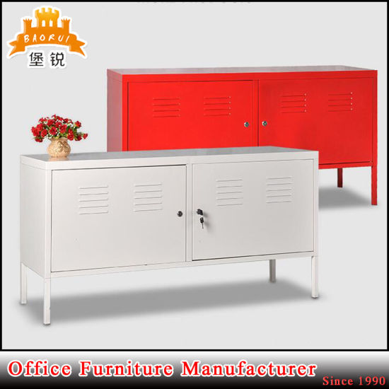 China House Decoration Steel 2 Door Tv Cabinet Ps Display Cabinet
