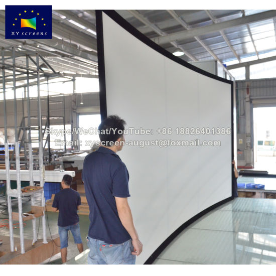 China Xyscreen Customized Size DIY Curved Projector Screen ...