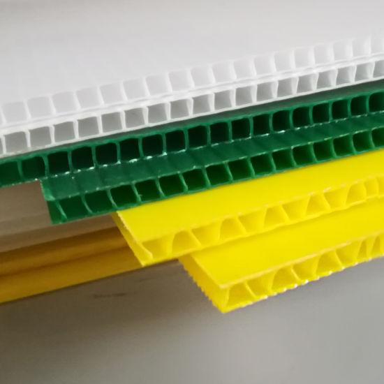 Corrugated/Fluted/Hollow/Twinwall/Coroplast/Corflute PP/Honeycomb/Plastic Sheet