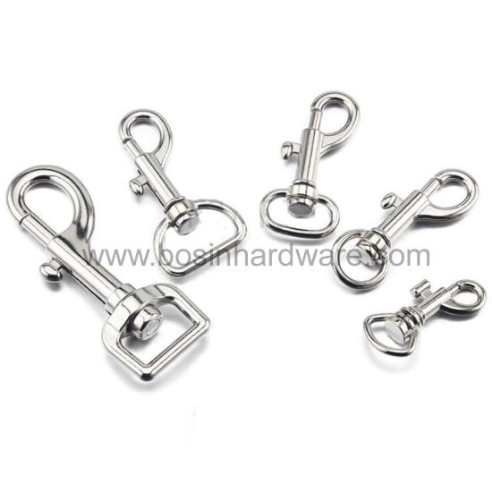 Metal Snap Hook with Eyelet for Wire Cable