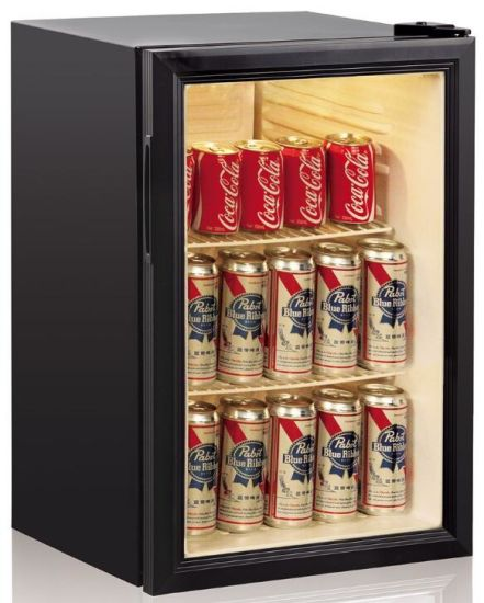 LED Light Glass Door Upright Energy Drink Wine Refrigerator (JGA-SC68)