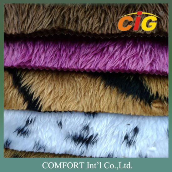 100% Polyester Soft Lamb Wool Fake Fur / Faux Fur Fabric for Auto Interior Upholstery