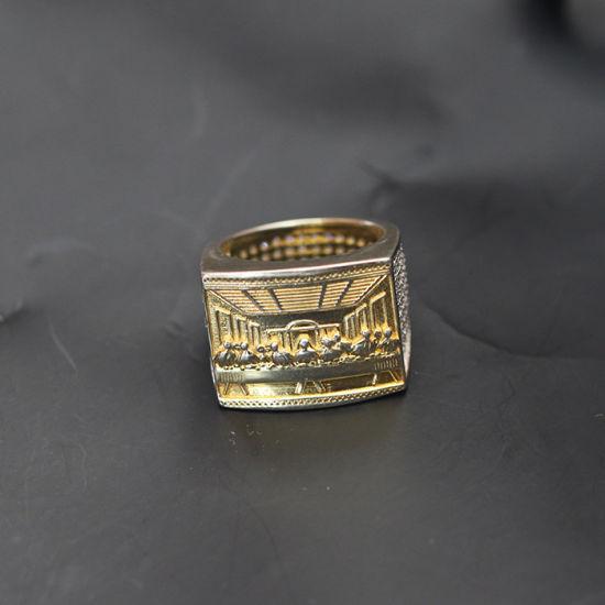 d8a6ea7ab798e Iced out Mens Hip Hop Gold Jesus Ring Designs for Men Mjhpr056