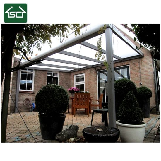 China European Style Terrace Patio Roofing With Double Glass Sliding