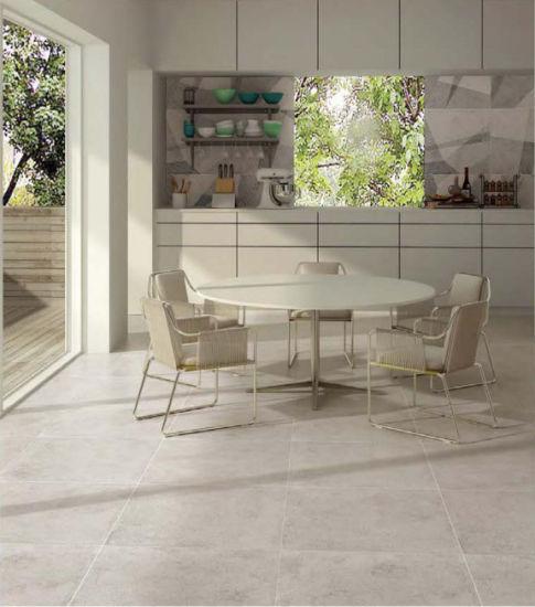 China Light Grey Glazed Porcelain Floor Tile For Modern House