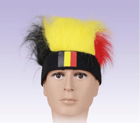 Crazy Soccer Wig/ World Cup Wig/ Soccer Novelties