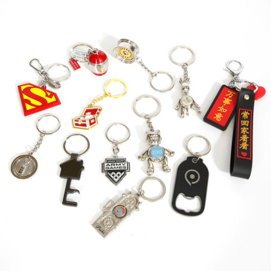 Promotion 2020 BSCI Direct Manufacturer Custom Craft 3D Metal Crafts PVC Keychain