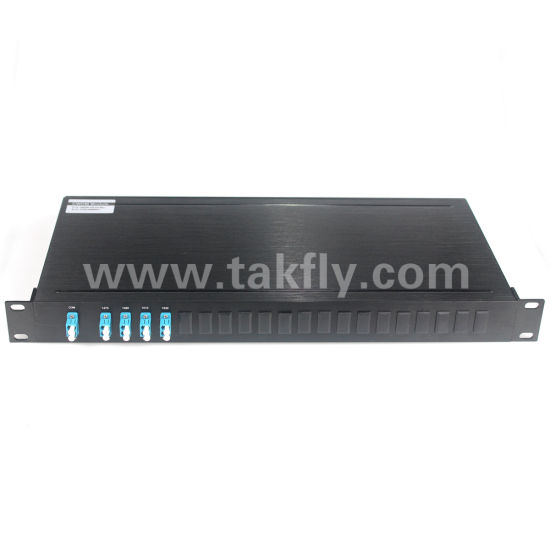 8 CH 1270-1610nm 1u Rack CWDM LC Mux Demux Multiplexer pictures & photos