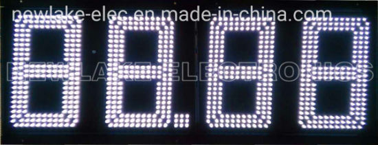 IP67 Outdoor 12inch LED Gas Price Display Signs (White CREE LEDs)