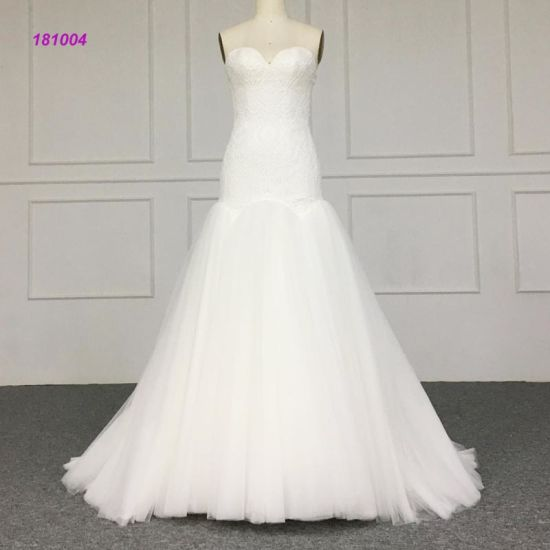 1c90a2fea8e8 Strapless Sweetheart Neckline Bodice Mermaid Bridal Gown with Ball Gown  Skirt Wedding Dress