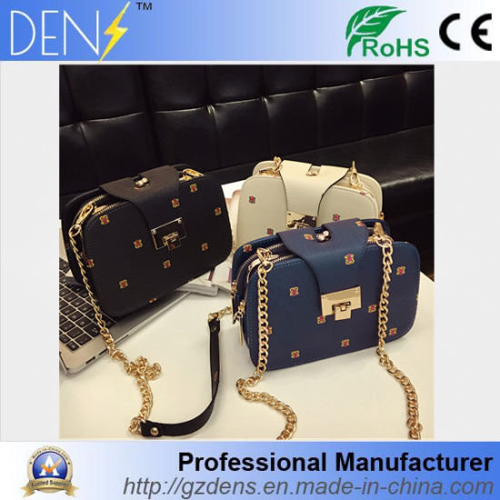 China Pu Handbags Synthetic Leather Lady Carry Bag