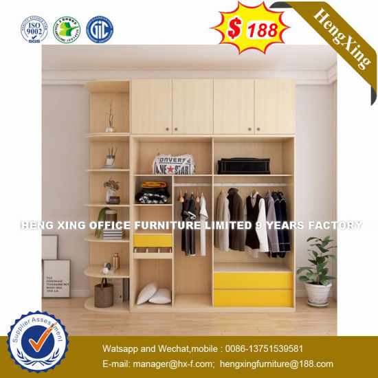 Corner Design Solid Wood Folding Clothes Closet Wardrobe (HX-8NR0772) pictures & photos
