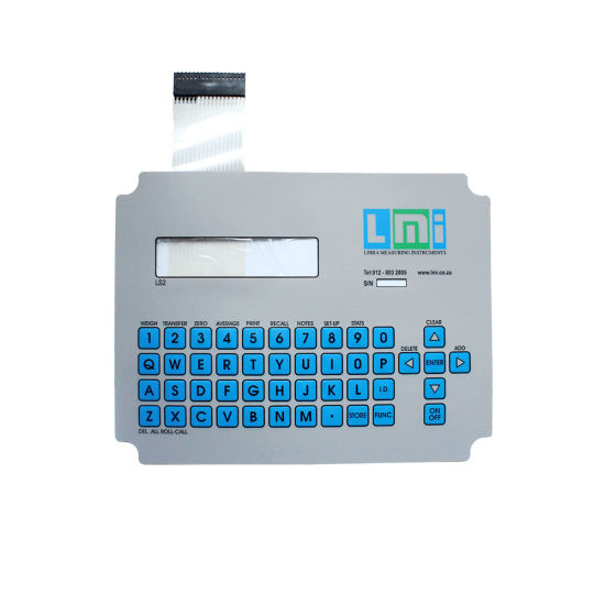 Tactile Custom Brand Membrane Switch Keyboard with Foil
