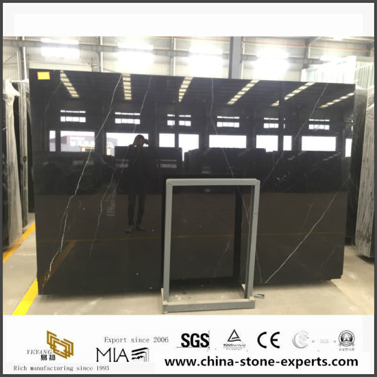 Nero Marquina Marble Slab Black Marquina Slab pictures & photos