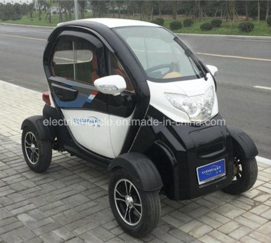 Cheap Four Wheeler Mini Smart 2 Passenger Seats Electric Car