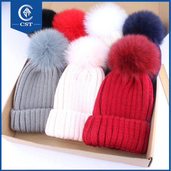 fb80effda02 China Custom Winter Plain Cable Knitted 100% Acrylic Warm Beanie Hat ...