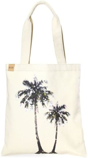 Eco Cotton Canvas Shopping and Travel Tote Bag
