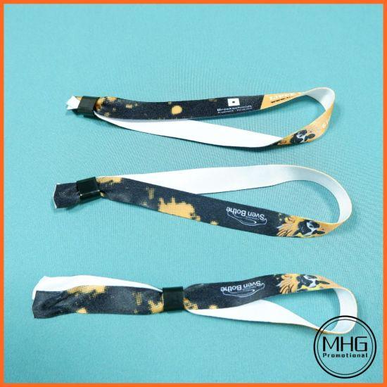 One Time Use Custom Slide Lock Wristband