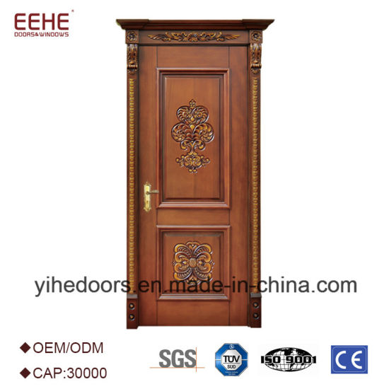 China Solid Core Wood Glass Door Design For Kitchen China Wood