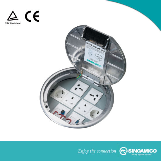 Structured Cabling System Floor Connector Socket Boxes for Carpet