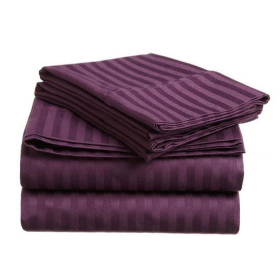 Luxury Striped Solid Color Cotton Bedding for Hotel and Hospital