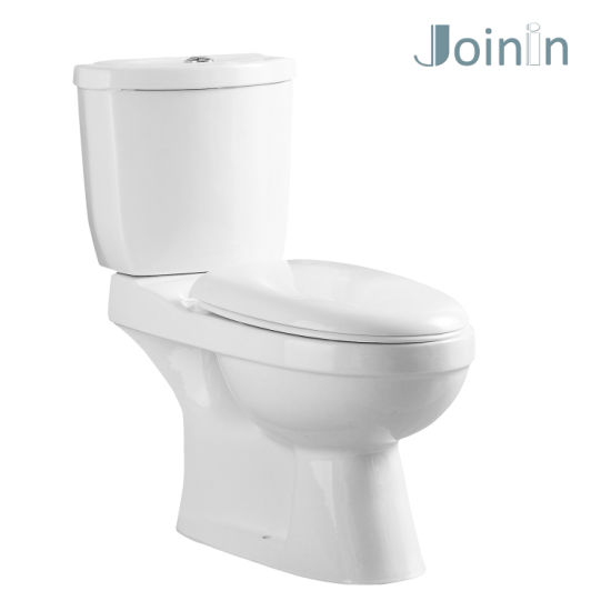 Cheap Price Chaozhou Sanitary Ware Bathroom Ceramic Two Piece Wc Toilet with P-Trap (JY2101)
