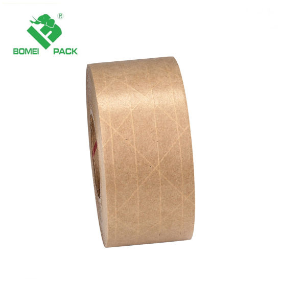Fiber Water Activated Reinforced Gummed Kraft Paper for Packing pictures & photos