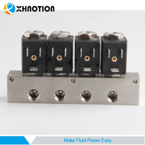 3V Series SS Manifolds Solenoid Valve with PTFE Seal