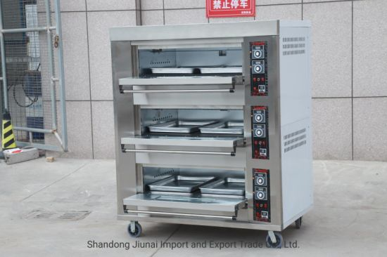 3 Deck 6 Trays Electric Deck Oven Baking Machine Commercial Bakery Equipment Pizza Oven Baking Oven
