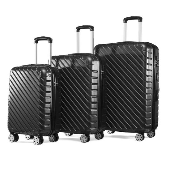 Enfung 20′′ 24′′ 28′′ 3PCS Luggage Sets ABS Hard Shell Case Trolley Suitcase pictures & photos