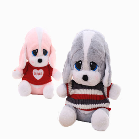Cute Custom Designed Dogs with Sweater Plush Toys