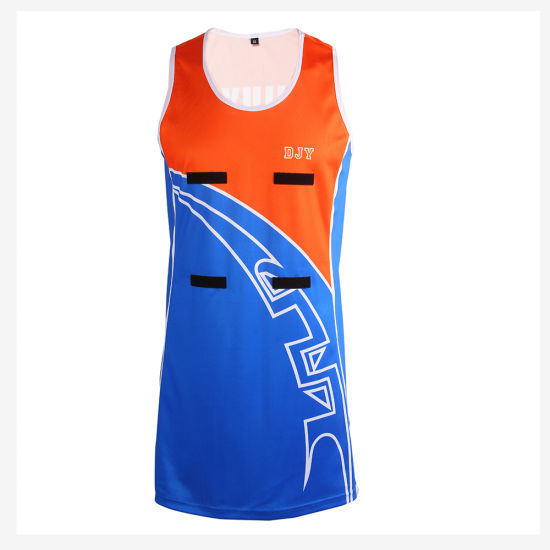 Custom Sublimation Printed Netball Sportwear Dresses with Strips