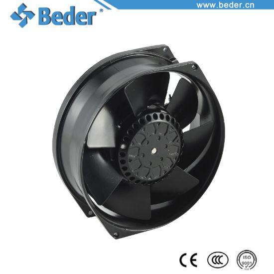 172X150X55mm Black AC 220V 17055 Cooling Axial Fan