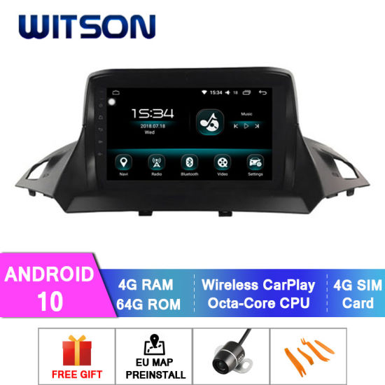 Witson Android 10 Car DVD GPS Navigation for Ford 2013-2018 Kuga 4GB RAM 64GB Flash Big Screen in Car DVD Player pictures & photos