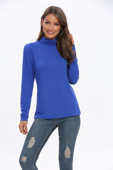 Women′ S Turtleneck Sweater Pullover Blouse Small Order Quantity Wholesale
