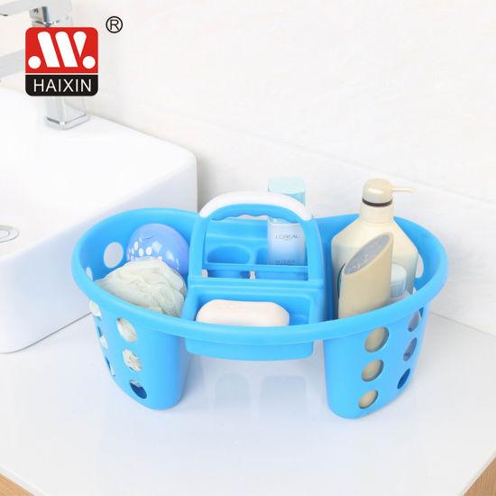 Haixing Hot Sale Plastic Handle Tool Basket for Bathroom Organizer