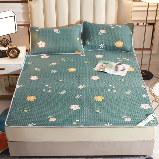 Printed New Products Summer Mattress Cover Bedding Set with Rubber Filling and Cool Feeling Fabric pictures & photos